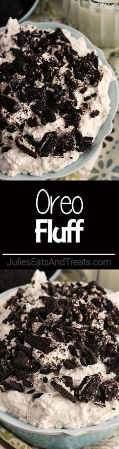 Looking afternoon snacks for both kids and adults? Try making this Oreo Fluff. It's Light, Fluffy Dessert or Salad Loaded with Crushed Oreos and Super Simple and Easy! You can also make this oreo dessert on birthday parties! Heavenly! via @julieseats Fluff Desserts, Easy Desserts, Delicious Desserts, Yummy Food, Oreo Dessert Easy, Light Desserts, Summer Desserts, Dessert Ideas, Healthy Food