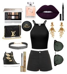 """""""Mall outfit #1"""" by ingagharibyan on Polyvore featuring Giuseppe Zanotti, Topshop, Humble Chic, Spitfire, Oscar de la Renta, Givenchy and Yves Saint Laurent"""
