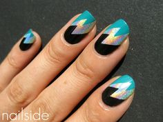 Nailside: Holo lightning bolt