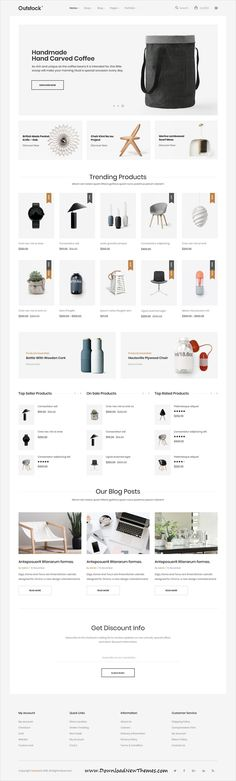 Outstock is a clean and modern design 6in1 responsive #WooCommerce #WordPress theme for stunning #onlinestore eCommerce #website to download & live preview click on image or Visit