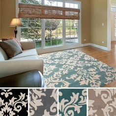 Hand-tufted Alyshia Classic Damask New Zealand Wool Area Rug (5' x 8') | Overstock.com Shopping - The Best Deals on 5x8 - 6x9 Rugs