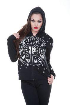 Jawbreaker Women's Dead Zodiac Occult Hoodie