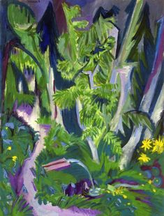 Mountain Forest by @artistkirchner #expressionism