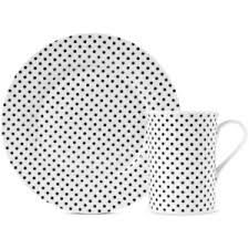 Resultado de imagen para elegant purple striped and dots dinnerware