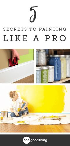 The 5 Secrets To Painting A Room Like a Pro Applying a fresh coat of paint is one of the easiest and least expensive ways to transform the look and feel of a room. Here is a list of tips and tricks to getting a professional finish on your own! Home Improvement Loans, Home Improvement Projects, Easy Projects, Home Projects, Home Renovation, Home Remodeling, Cheap Home Decor, Diy Home Decor, Cheap Houses