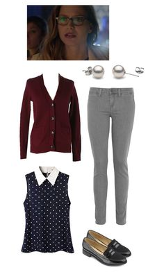 """Kara Danvers"" by rebellious-ingenue ❤ liked on Polyvore featuring Vince and LOFT"