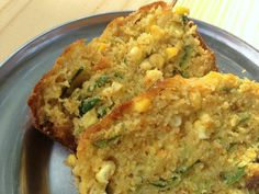 zucchini corn bread from the Washington's Green Grocer blog.  A change-up from the boxed version!