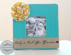 Grandma Gift Picture Frame. 'I'm Lucky to Call by CrystalCoveDS