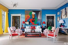Living Room : Miles Redd Decorates an Eclectic Houston Mansion