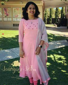 Kurta Designs Women, Kurti Neck Designs, Dress Neck Designs, Salwar Designs, Kurti Designs Party Wear, Blouse Designs, Kurti Embroidery Design, Embroidery Dress, Kurtha Designs