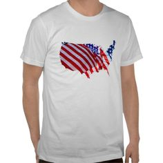 American Flag Map Tee Shirt, starting at $14.95. A shirt for the 4th of July.