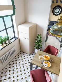 Want to see more pictures of this project? Check us out and get tones of inspiring ideas! Loft Design, House Design, Tiny Studio Apartments, L Shaped Kitchen, Cozy Apartment, Compact Living, Modern Minimalist, Toddler Bed, Interior Design