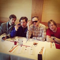 (from left): Wayne Sermon, Dan Platzman, Dan Reynolds, Ben McKee