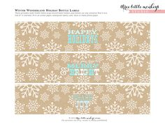FREE Christmas Party Printables from Three Little Monkeys Studio   Catch My Party