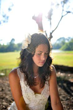 hair down with bandeau veil, Bridal Veil, Bandeau Schleier, Braut Schleier, Braut Mode