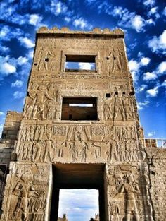 The gate of the Temple of Ramesses III, Medinet, Habu, Egypt