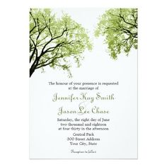 #Valentines #AdoreWe #Zazzle - #Zazzle Spring Trees 2- Wedding Invitations - AdoreWe.com