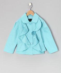 Blue Ruffle Jacket - Infant, Toddler & Girls