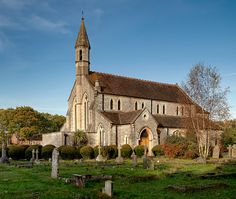 I do remember seeing this lovely church from the outside but never went in.  I regret that now!  We had so little time :( --Aurelas--  St. Mary's Church in Warsash, Hampshire, via Flickr.