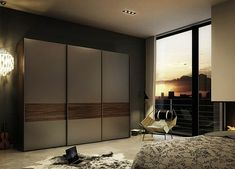 La porte de dressing coulissante garantit un style moderne pour votre armoire-dressing
