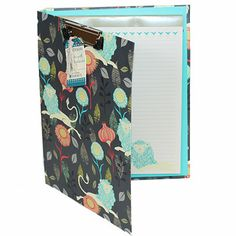Sarah Watts - Lion Padfolio with Clipboard CPDSWPOR334, animal print office supplies, lion print
