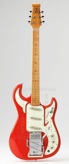 #Electric #Guitar BURNS HANK MARVIN SIGNATURE 1964 Red = painfully sexy!