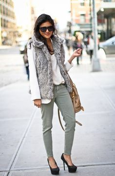 What I wish I was wearing today.....especially the faux fur vests!