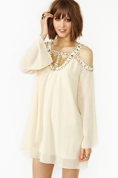 Stoned Chiffon Dress