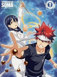 Shokugeki no Soma// Yukihira Soma and Tadokoro Megumi Otaku, Anime Fr, Yukihira Soma, Shokugeki No Soma Anime, Pokemon Dragon, Jellal And Erza, My Hero Academia Manga, Fanart, Manga Games