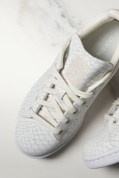 These white womens snakeskin Superstar trainers are on point. Check out all the latest Superstar styles from @adidas now!
