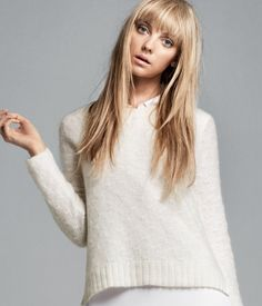 Pattern knit jumper-HM. Looks great with the collar necklace!
