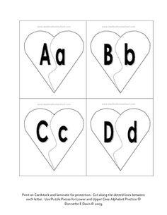 valentines alphabet puzzle…free
