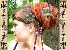 2 x Hair Barrette GIPSY FANTASY FLOWER antique by MagicTribalHair, €13.50