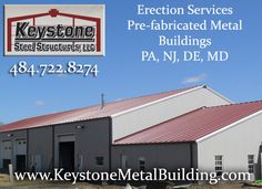 http://www.keystonemetalbuilding.com/erect-only-oohhk Keystone Metal Buildings is a company providing erection services for the construction of pre-fabricated metal buildings in the PA, NJ, DE and MD areas.  In addition to metal building erection services, we also offer general construction services for the entire project.   Call us today at 484-722-8274.  https://www.linkedin.com/in/keystone-metal-buildings-90a604124