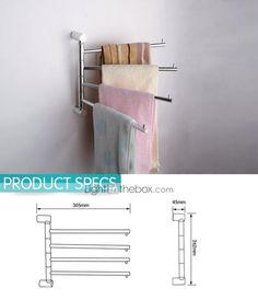 Barre porte-serviette - Contemporain - Argent - Fixation au Mur - CAD $ 30.57