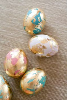 bronze et couleurs idées originales déco pour Pâques