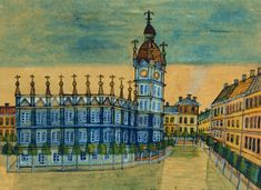 Nikifor Krynicki, Cracow, photo courtesy of The Ethnographic Museum in Kraków Naive Art, Krakow, Big Ben, Folk, San, Illustration, Pictures, Travel, Image