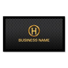Get customizable Deluxe business cards or make your own from scratch! ✅ Premium cards printed on a variety of high quality paper types. Custom Business Cards, Business Names, Visiting Card Design, Gold Rings, Monogram, Logo, Dark, Metal, Prints
