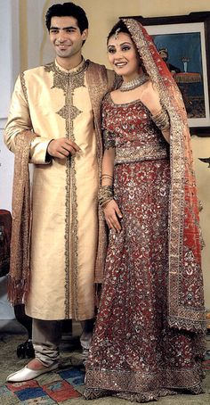 Indian Bride and Groom Fashion!