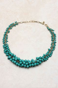{Paris Bea Necklace} via Emma Stine - hundreds of faceted crystal paris green beads... gorgeous!