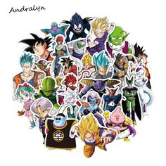 36 Pcs/Lot Anime Dragon Ball Stickers Super Saiyan Goku Stickers For Car Laptop Skateboard Pad Bicycle Phone Decal  PVC Sticker  Price: 1.58 USD