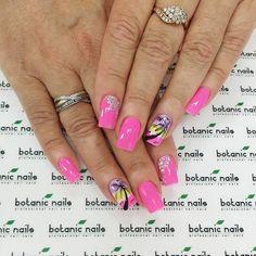 Beach nails, Beautiful summer nails, Bright shellac, Bright summer nails, Cheerful nails, Nails with rhinestones, Palm tree nail art, positive nails