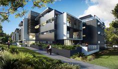 The Village @ Coorparoo, Brisbane - Retirement Village by S3 Architects    Building 3 artist impression - under construction