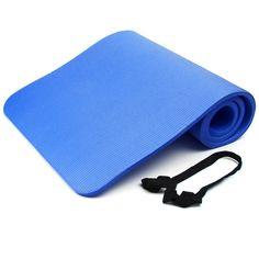 15mm de espesor de espuma nbr yoga estera de yoga suave almohadillas de entrenamiento deportivo ejercicio Estera de Gimnasio antideslizante 183X61 cm para Gimnasio Body Building