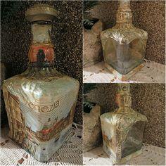 Decorated bottle - Venice.