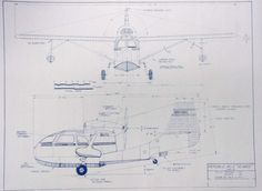Republic RG3 SeaBee Airplane Blueprint by BlueprintPlace on Etsy, $18.99