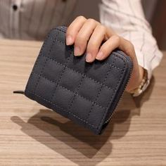Cheap wallet with, Buy Quality women short wallet directly from China small zipper wallet Suppliers: Women Short Wallets PU Leather Female Plaid Purses Nubuck Card Holder Wallet Fashion Woman Small Zipper Wallet With Coin Purse Mini Wallet, Wallet With Coin Pocket, Mini Purse, Small Wallet, Coin Bag, Coin Purse Wallet, Coin Purses, Plaid Purse, Cute Wallets