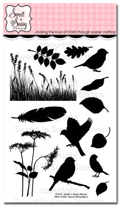 Sweet 'n Sassy Stamps - Nature Silhouettes 2 Clear Stamp Set, $15.00 (http://www.sweetnsassystamps.com/nature-silhouettes-2-clear-stamp-set/)