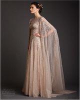 Арабский Платья Потрясающие Vestido Лонго Достойный Совок Блесток-Линии Вечернее Платье Развертки Поезд Саудовской Аравии Длинные Платья Выпускного Вечера