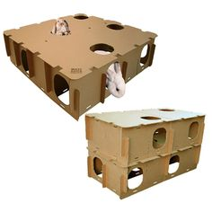 maze, cardboard, house, play, fun